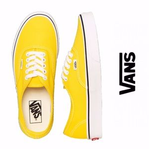 Vans Authentic Vibrant Yellow/ White Shoes